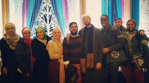 Sara with her fellow Australian travel companions, pictured third to the left here. They are joined by our esteemed teacher and scholar, Imam Zaid Shakir.