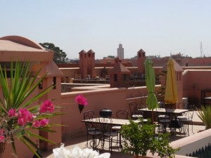 A Riyad rooftop terrace in Marrakech © S.Mantoo