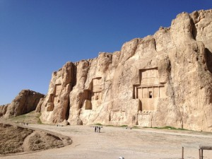 Naqsh-e-Rustam in Persepolis, Iran, housing the tombs of the Achaemenid kings. © S.Mantoo