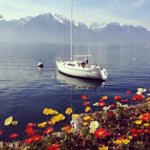 Switzerland's picture perfect Montreux in Spring © S.Mantoo